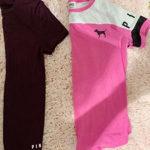 Two pink t-shirts